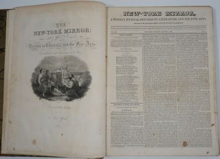 Charles Dickens, first US publication 'Sketches by Boz' in The New York Mirror, Volume IV....