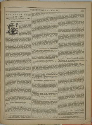 The Household Journal of Information, Amusement, and Domestic Economy Vol. 1 No. 1 - No. 25.