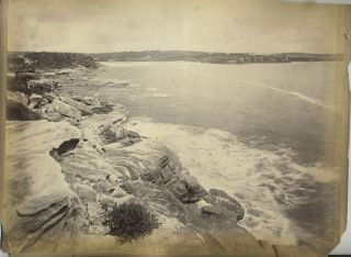 """Coogee Bay' and ""Palms Botanic Garden"" verso with ""Philae Island, Egypt"". Albumen photographs...."