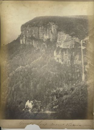 """Mount Victoria"" [with] ""Govets Leap"". Albumen photographs. Ebenezer Caney, Kate Caney,..."
