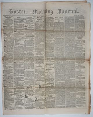 China and Civil War News articles appearing in Boston Morning Journal Vol. XXX, No. 8924,...