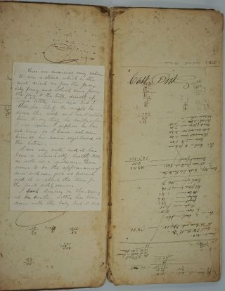 Smithtown Long Island, farmer's ledger which includes payments to free blacks. Isaac Buffett, W....