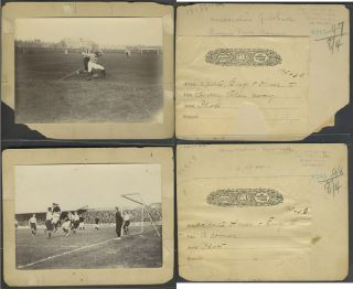 Association Football. British Soccer photographs from the Art Department of The Century Company, New York.
