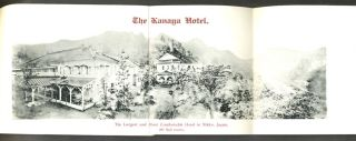 'Kanaya Hotel, Nikko, Japan. Strictly First-Class in all Its Appointment'. Pamphlet with folding map.