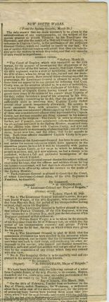 Moreton Bay release of 57th Regiment prisoners, article in 'The Courier' newspaper.