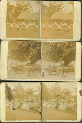 Fiji/Suva personalized stereoviews, including an investiture ceremony, possibly Governor Thurston...