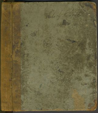 Madison County NY School record book, 1823 - 1828, with late entries for 1851.