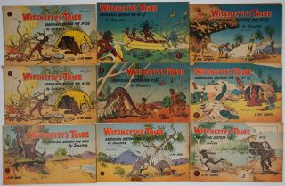 "Witchetty's Tribe. Aboriginal Cartoon Fun. 20 numbers including the first number, spelled ""Wichetty's Tribe"""