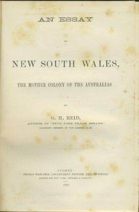 An Essay on New South Wales, The Mother Colony of the Australians. Presentation copy.