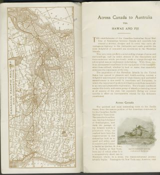 Across Canada to Hawaii Fiji New Zealand and Australia, by the Canadian Pacific Railway and Canadian Australian S. S. Line.