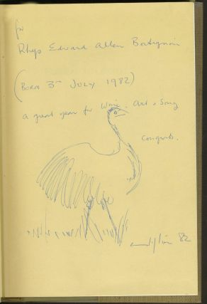 """Patterns of a Lifetime, Clifton Pugh. Signed """"Clifton"""", with bird sketch."""