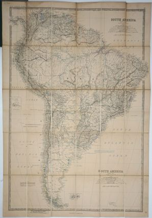 South America. Map on linen.