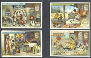 Le Feu Dans l'Industrie Artistique; set of 6 cards featuring pottery, porcelain and stained glass...