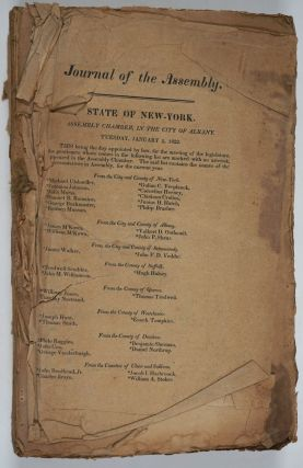 Journal of the Assembly of the State of New-York, at Their Forty- Fifth Session (1822).