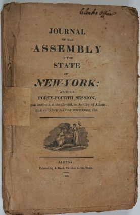 Journal of the Assembly of the State of New-York, at Their Forty- Fourth Session (1820-1821