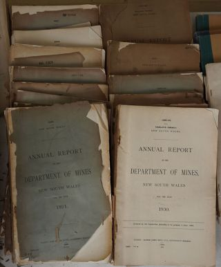 Annual Report of the Department of Mines, New South Wales; Annual report of the Department of Mines and Agriculture, New South Wales; New South Wales. Dept. of Mineral Resources and Development. Annual report; Statistical Supplement to the Report of the Department of Mines, New South Wales; Summary of the Reports of the Department of Mines, New South Wales.