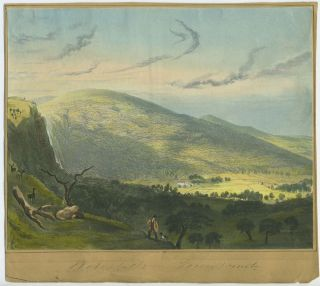 Powerscourt Waterfall, Ireland. Aquatint view