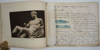 Ancient Greek & Roman art album, with annotations throughout.