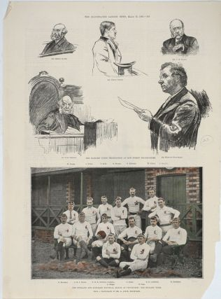 A collection of 49 antique Rugby prints, 1845 - 1931.