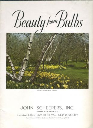 Beauty From Bulbs, 1938. Color illustrated plant catalog. John Scheepers Inc