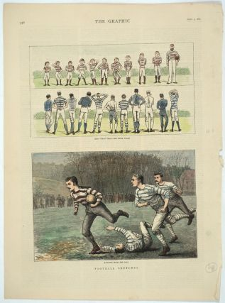 Football Sketches: Boys versus Men--The Rival Teams; Running with the Ball. W. B. Wollen