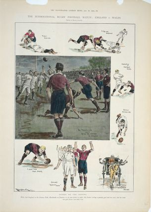 International Rugby Football Match: England v. Wales; Scenes on the Ground. Rugby, Ralph Cleaver