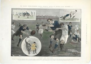 The Drawn Inter-University Rugby Football Match at Queens Club, December 13; Players and...
