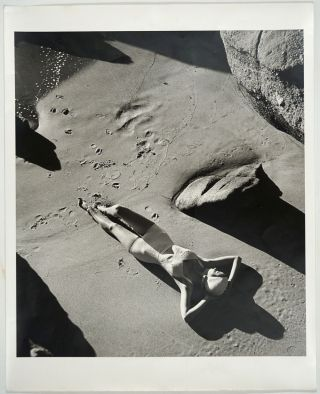 Rubber Bathing Suit, California. Signed fashion photograph. Photography, Louise Dahl-Wolfe