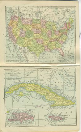 Atlas of the World containing Colored Maps of Every Country and Civil Division Upon the Face of the Globe. [Featuring Cuba, Puerto Rico, Philippines, Alaska].