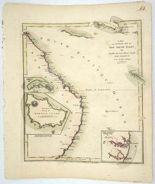 A New and Accurate Map of New South Wales with Norfolk and Lord Howes Islands Port Jackson &c...