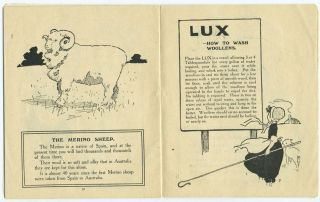 The Book of the Sheep. Lux, Won't Shrink Woollens.
