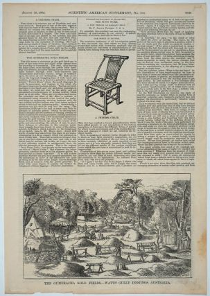 """The Gumeracha Gold Fields - Watts' Gully Diggings, Australia"", illustrated article, Scientific..."