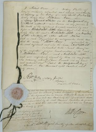 Early Scottish settlers in N.S.W.: land transfer of Duncan & Margaret MacKellar to Charles...