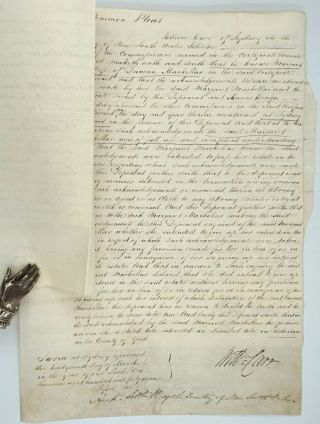 Early Scottish settlers in N.S.W.: land transfer of Duncan & Margaret MacKellar to Charles McLachlan. Legal documents.