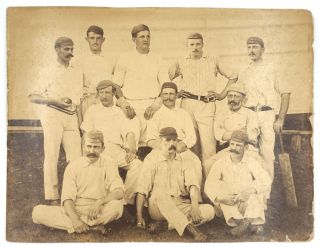 Unidentified Cricket Team, photograph. Cricket