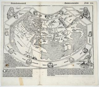 Secunda etas mundi. Early world map from the time of Columbus, from the Nuremberg Chronicle....
