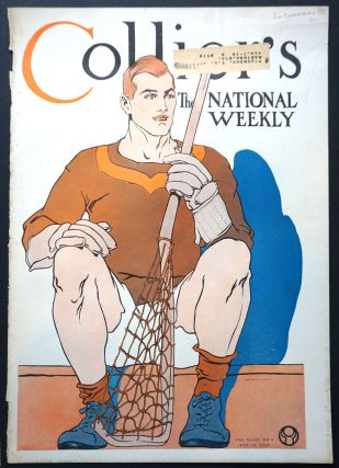 Lacrosse player on the cover of Collier's, the National Weekly