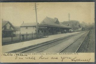 New York Central Station, Garrison, N.Y. Forson Bros, Postcard