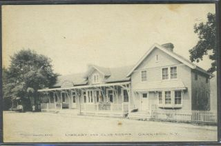 Library and Club Rooms, Garrison, N. Y. Forson Bros, Postcard
