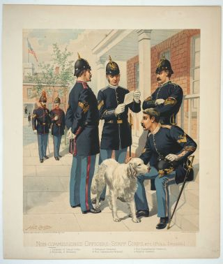 Non-Commissioned Officers, Staff Corps, etc [Full Dress]. Chromolithograph. US Military, H. A....