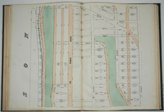Map of the City of New York. Parts I & II. Showing the Streets, Avenues, Roads, Public Squares & Places Laid Out, Established, Widened and Retained, the New Pier and Bulkhead Lines Laid Out and Established, by the Board of Commissioners of the Central Park. Atlas.