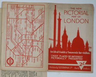 The New Pictorial Map of London. An Ideal Guide & Souvenir for visitors. Chief Places of Interest Pictorially Presented.