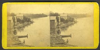 View from Garrison's, Looking South. E. Stereoview Anthony