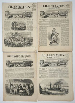 L'Illustration Francaise and Le Moniteur Américain. Prospectus for French-American newspaper venture [with] 3 issues of L'Illustration, 1851.