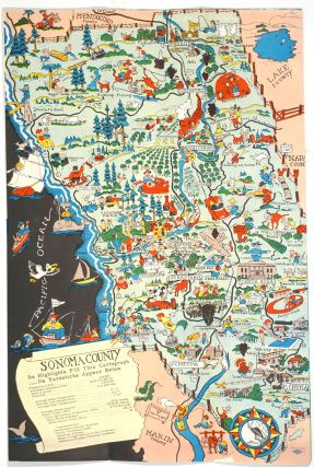 "Pictorial map of Sonoma County. ""Historic Sonoma County"", Folding Brochure with color map one..."