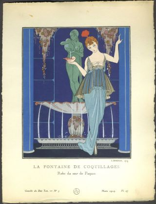 Gazette du Bon Ton. Art, Modes & Frivolités. Second Year: Volume Two, 4 Numbers in wrappers, 4 partial Numbers.