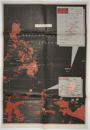 WWII Newsmap for the Armed Forces. Mindanao Philippines; Burma, France, Western Pacific, Palau Islands, and Morotai.