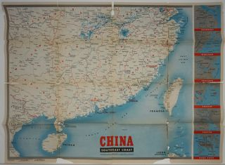 WWII Newsmap for the Armed Forces. China Southeast Coast.