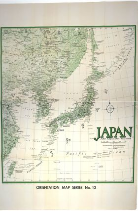 Moscow to Berlin. Japan and Adjacent Regions. US Army Orientation map. WWII, Map