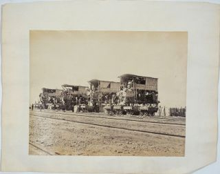 Suez Canal, Construction. 7 Albumen photographs.